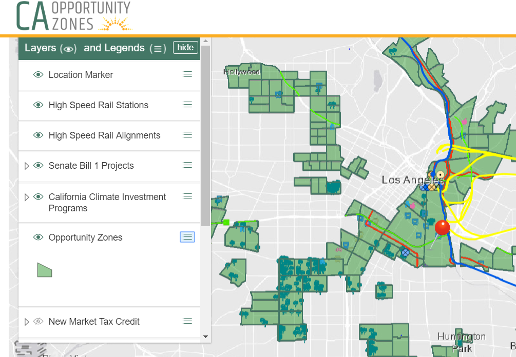 Opportunity Zone Map, Los Angeles Arts District